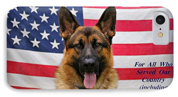 German Shepherd - U.s.a. - Text IPhone Case