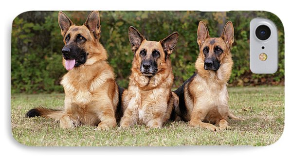 German Shepherds - Family Portrait Phone Case by Sandy Keeton