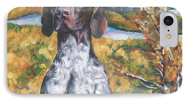 German Shorthaired Pointer Autumn IPhone Case by Lee Ann Shepard