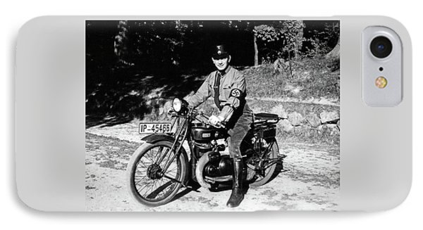 German Ss On His Iron Horse IPhone Case by Charles Meagher