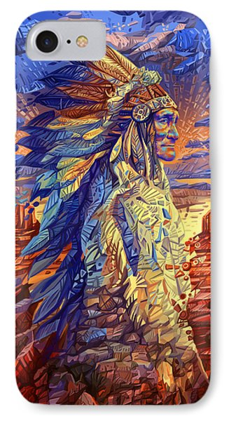 Geronimo Decorative Portrait IPhone Case by Bekim Art