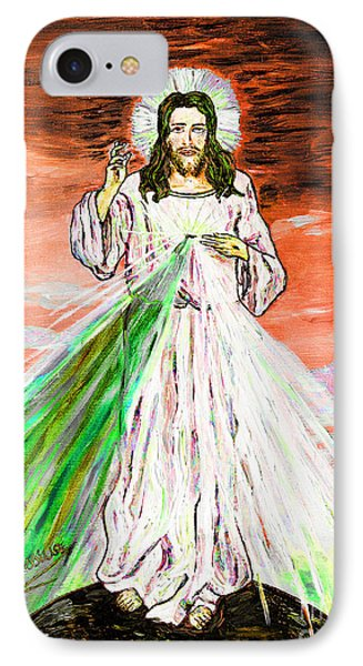 IPhone Case featuring the painting Gesu' by Loredana Messina