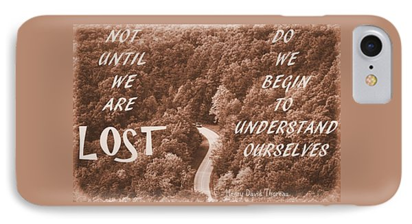 Get Lost Quote IPhone Case by Dan Sproul