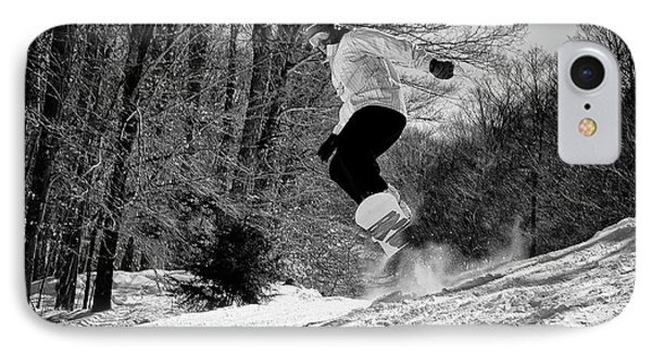 IPhone 7 Case featuring the photograph Getting Air On The Snowboard by David Patterson
