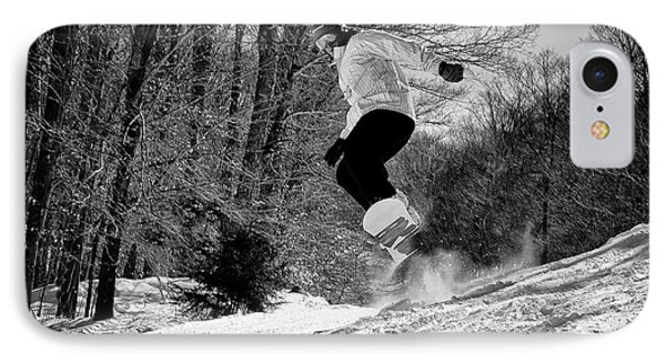 IPhone Case featuring the photograph Getting Air On The Snowboard by David Patterson