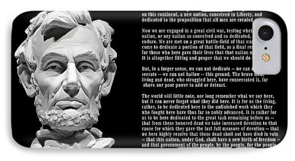 Gettysburg Address  1863 IPhone Case by Daniel Hagerman