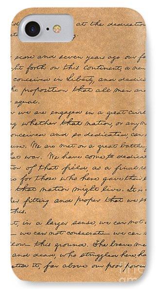 Gettysburg Address IPhone Case