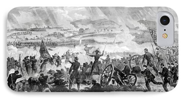 Gettysburg Battle Scene IPhone Case by War Is Hell Store