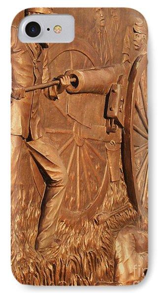 Gettysburg Bronze Relief IPhone Case by Eric  Schiabor