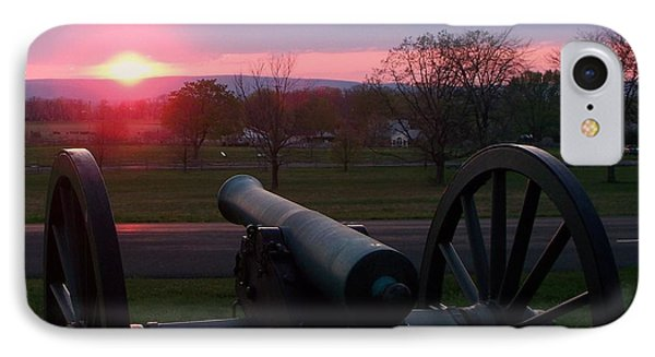 Gettysburg Cannon IPhone Case by Eric  Schiabor