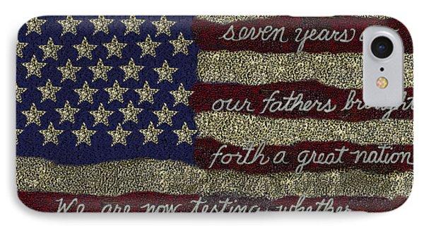 Gettysburg Homage Flag IPhone Case by Carol Jacobs
