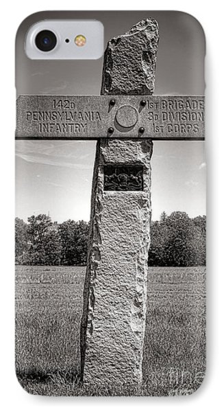 Gettysburg National Park 142nd Pennsylvania Infantry Monument IPhone Case by Olivier Le Queinec