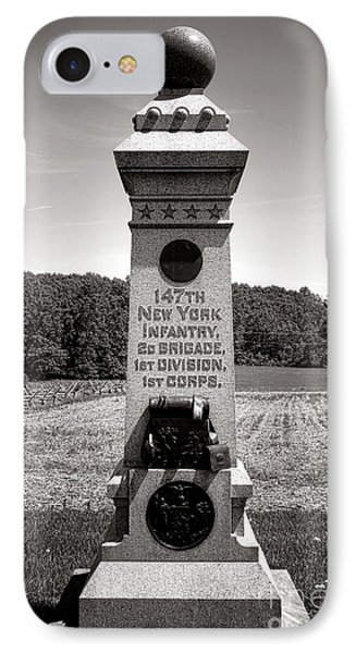 Gettysburg National Park 147th New York Infantry Monument IPhone Case by Olivier Le Queinec
