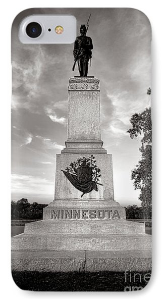 Gettysburg National Park 1st Minnesota Infantry Monument IPhone Case by Olivier Le Queinec