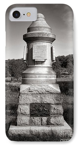 Gettysburg National Park 30th Pennsylvania Infantry Monument IPhone Case by Olivier Le Queinec