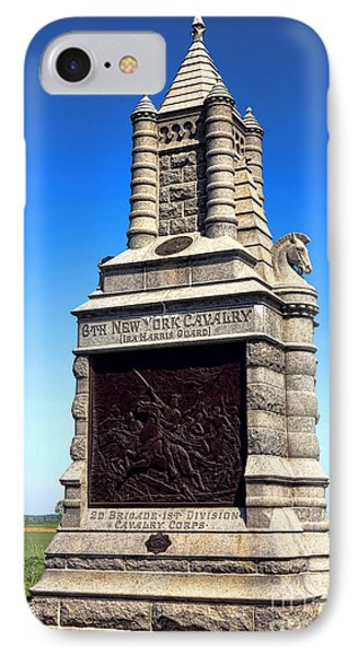 Gettysburg National Park 6th New York Cavalry Memorial IPhone Case by Olivier Le Queinec