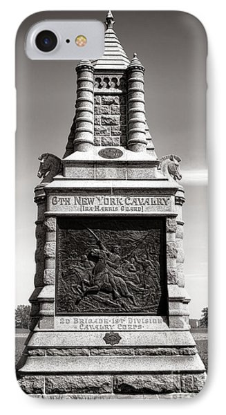 Gettysburg National Park 6th New York Cavalry Monument IPhone Case by Olivier Le Queinec