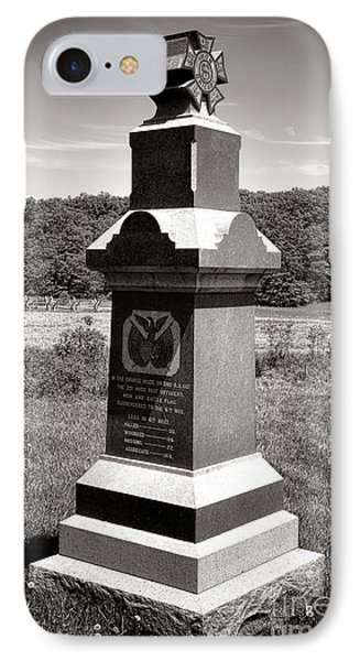 Gettysburg National Park 6th Wisconsin Iron Brigade Monument IPhone Case