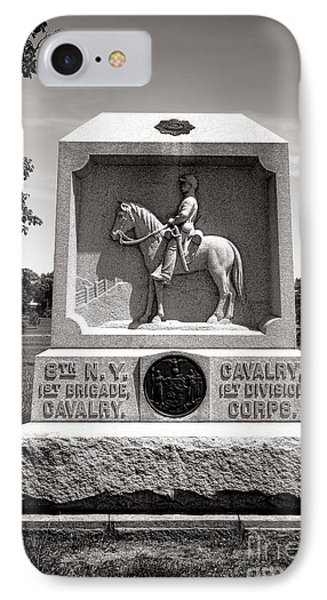 Gettysburg National Park 8th New York Cavalry Monument IPhone Case by Olivier Le Queinec