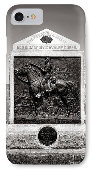 Gettysburg National Park 9th New York Cavalry Monument IPhone Case by Olivier Le Queinec