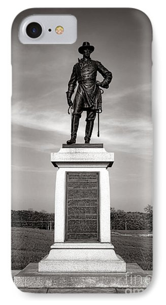 Gettysburg National Park Brigadier General Alexander Webb Monument IPhone Case by Olivier Le Queinec
