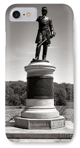 Gettysburg National Park James Samuel Wadsworth Monument IPhone Case by Olivier Le Queinec