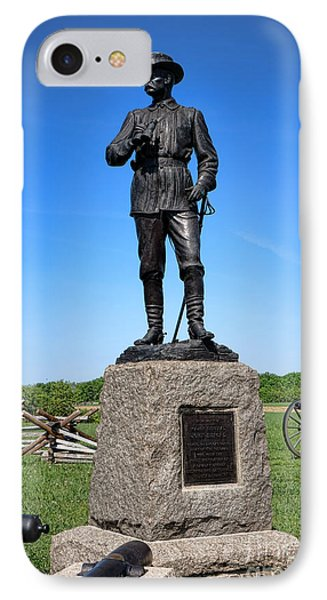Gettysburg National Park Major General John Buford Memorial IPhone Case by Olivier Le Queinec