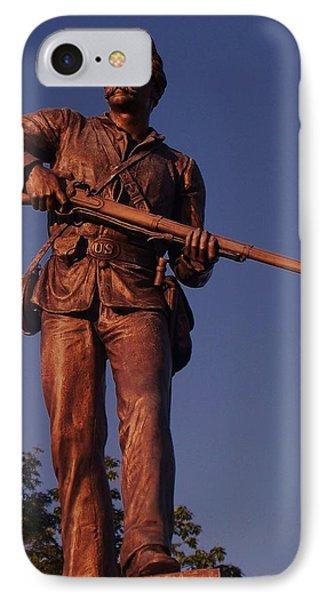 Gettysburg Statue Phone Case by Eric  Schiabor