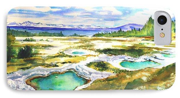 Geyser Basin, Yellowstone IPhone Case