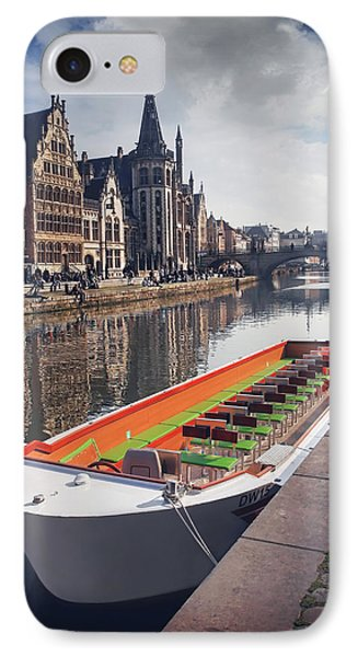 Ghent By Boat IPhone Case by Carol Japp