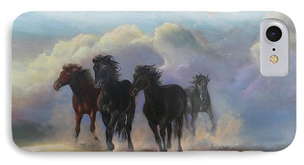 Ghost Horses IPhone Case