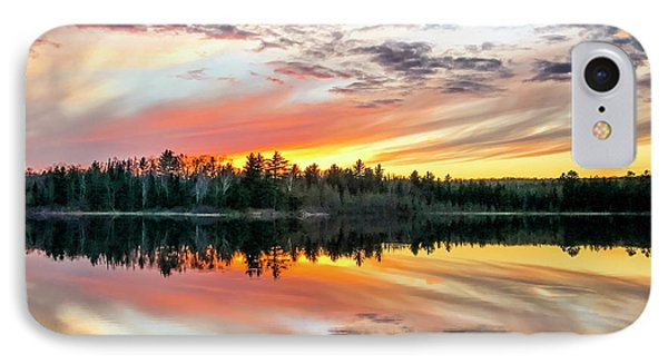 Ghost Lake Sunset IPhone Case by Todd Reese