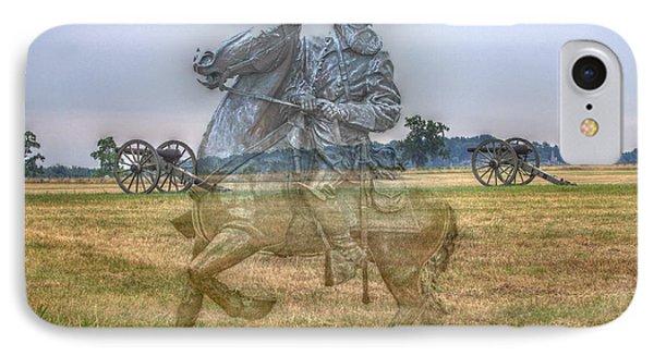 Ghost Of Gettysburg IPhone Case by Randy Steele