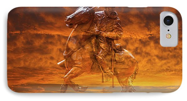Ghost Of Gettysburg Verson Two IPhone Case by Randy Steele