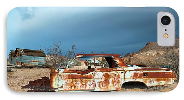 Ghost Town Old Car IPhone Case by Catherine Lau