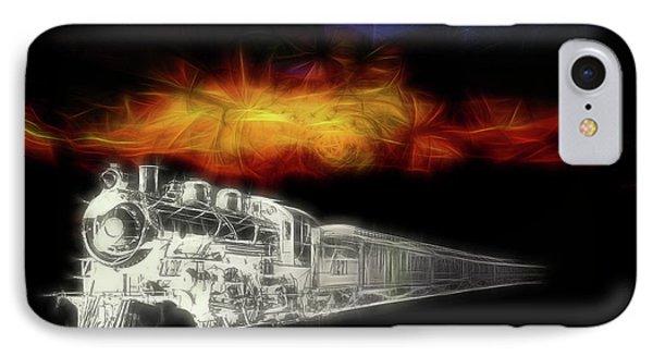 IPhone Case featuring the digital art Ghost Train by John Haldane