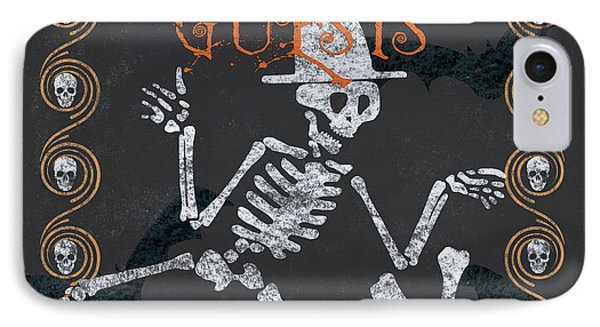 Ghoulish Guests Welcome IPhone Case by Debbie DeWitt
