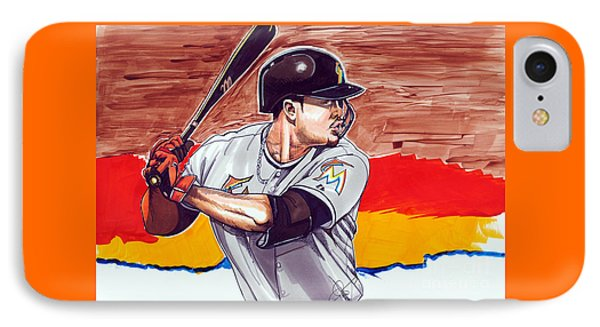 Giancarlo Stanton IPhone Case by Dave Olsen