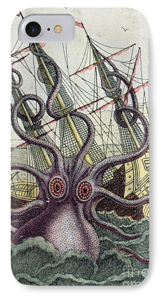 Giant Octopus IPhone Case by Denys Montfort