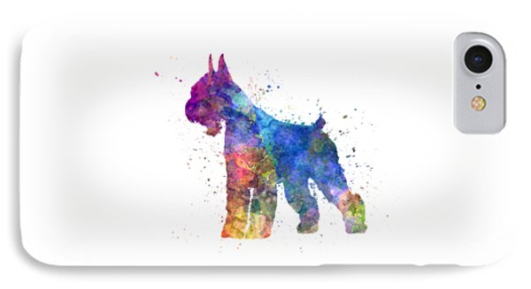 Giant Schnauzer 01in Watercolor IPhone Case by Pablo Romero