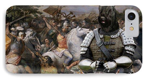 Giant Schnauzer Art Canvas Print - The Brave Riccer  IPhone Case by Sandra Sij