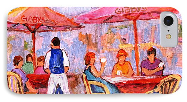 Gibbys Cafe IPhone Case by Carole Spandau