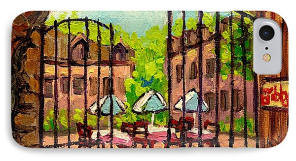 Gibbys Restaurant In Old Montreal IPhone Case by Carole Spandau