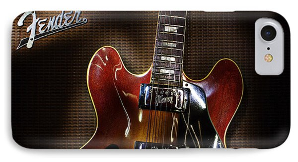 IPhone Case featuring the digital art Gibson 335 by Jim Mathis
