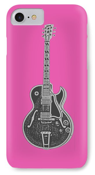 Gibson Es-175 Electric Guitar Tee IPhone 7 Case by Edward Fielding