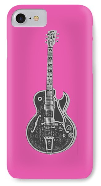 Gibson Es-175 Electric Guitar Tee IPhone Case by Edward Fielding