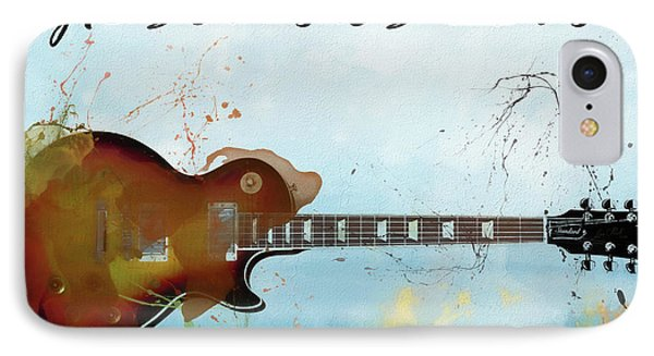 Gibson Les Paul Guitar IPhone Case by Dan Sproul
