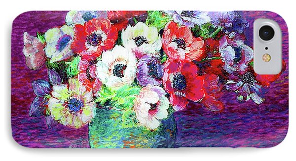 Gift Of Anemones IPhone Case by Jane Small