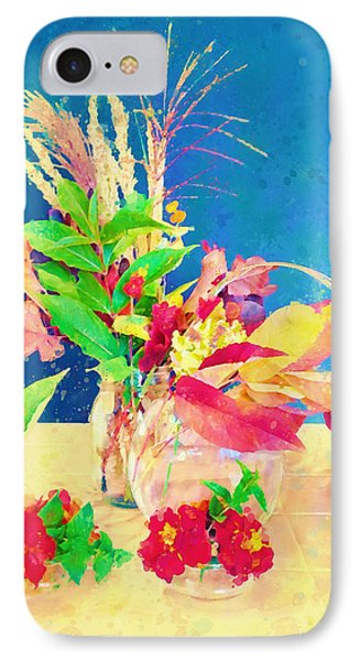 IPhone Case featuring the digital art Gifts From The Yard Watercolor by Christina Lihani