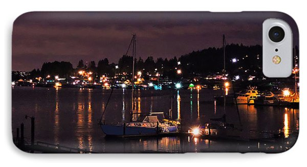 IPhone Case featuring the photograph Gig Harbor At Night by Jack Moskovita